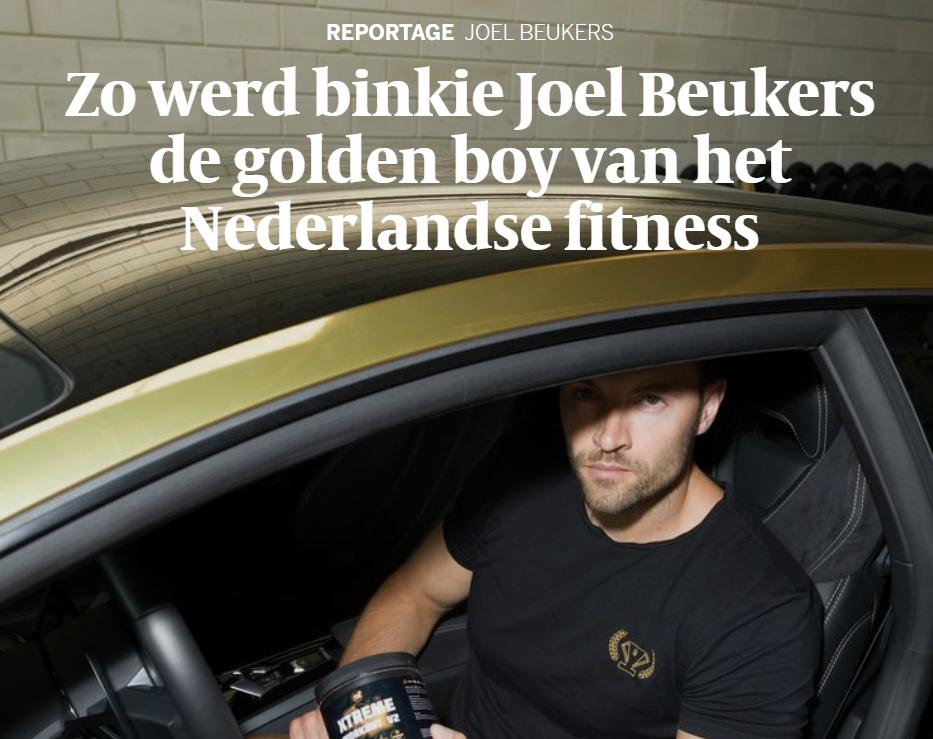 Joel Beukers en Clean Nutrition staan in de Volkskrant